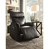 Risona Traditional Bonded Leather Power Recliner Black