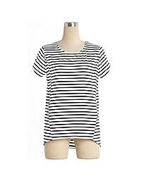Unimommy Pregnant Women Tops Striped Breastfeeding Postpartum Shirt T-shirt