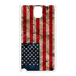 Grunge Paper Flag of United States - US Flag - American Flag - USA Flag White Hard Plastic Case for Galaxy Note 3 by UltraFlags + FREE Crystal Clear Screen Protector