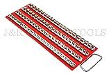 80pc Socket Rack Tray for 1/4'' 3/8'' 1/2'' sockets