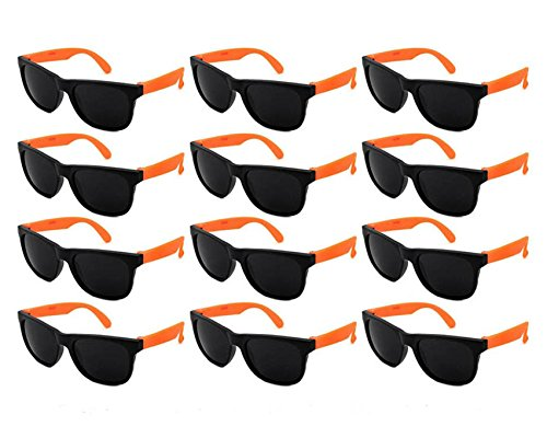 (Edge I-Wear 12 Pack Fun Party Sunglass Neon Sunglasses for Kid Party Favors 80's style glasses Wholesale)