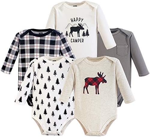 Hudson Baby Unisex Baby Cotton Long-sleeve Bodysuits