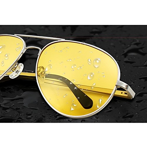 UV Lunettes 400 de Cadre de en aviateur B métal Hommes B Couleur Soleil polarisés par Protection de Oq75qSxwv