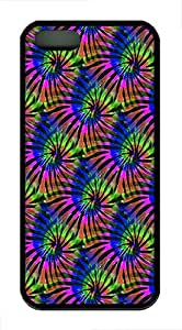 IMARTCASE iPhone 5S Case, Tie Dye Tropical Colors Seamless Durable Case Cover for Apple iPhone 5S/5 TPU Black
