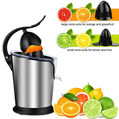 SOWTECH Citrus Juicer Stainless Steel Electric Orange Citrus Juicer Extractor Pulp Control Squeezer Machine [Ultra Quiet] [Precision of a Hand-Press] with The Direct Drive Motor by SOWTECH (Image #2)