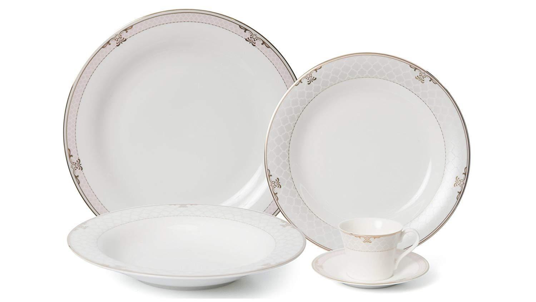 【安心発送】 Royalty磁器20-pc Dinner 4、24 Set for 4、24 Dinner B072J5Q2RT Kゴールド、プレミアムBone China ホワイト White Snood B072J5Q2RT, アキク:e791060a --- a0267596.xsph.ru