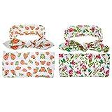 Bigface Up 2 set Swaddle Sack,Newborn Baby Sleep Blanket With Headband (Orange+Rose Red)