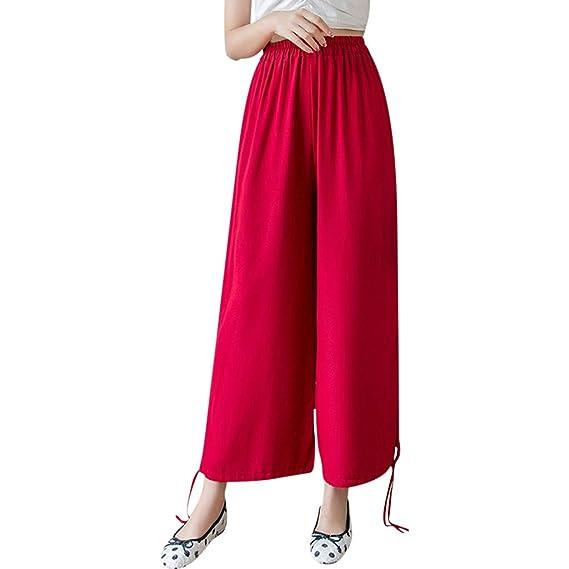New Women Print Ladies Elasticated Waist Bottom Casual Formal Trouser Plus Size