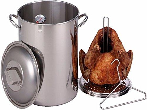 King Kooker 26 Quart Stainless Steel Turkey Pot Package by King Kooker