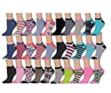 DINY Home & Style 30 Pairs of SOXO Brand Womens Ankle Socks, Low Cut Sports Sock - Assorted Styles Wholesale