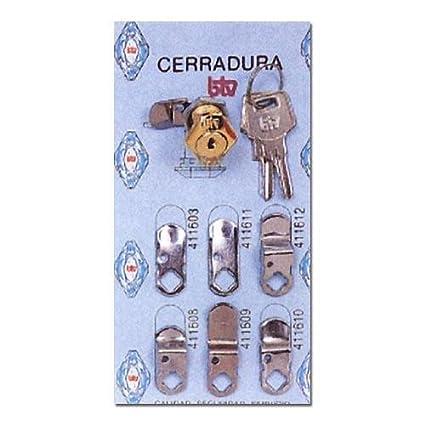 Btv 60004 - Cerradura buzon 60004 oro cartero btv: Amazon.es: Bricolaje y herramientas