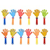 TOYMYTOY Plastic Hand Clappers Noisemakers Toys - Pack of 12, Sports Party Favors
