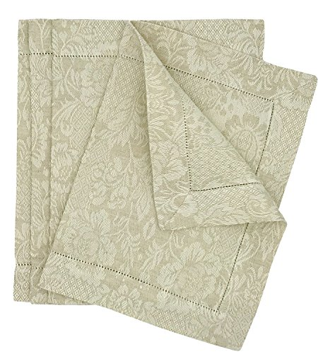 Tessitura Pardi Botticelli Natural Linen Placemats (Set of 4) 20'' x 14'' by Tessitura Pardi