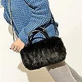 Plush Bag Winter Fluffy Leather Handbag Fashion Fur Messenger Bag for Ladies Women