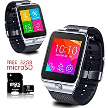 Indigi® Android 4.4 Smart Watch Phone GSM 3G+WiFi GPS Google Play + Free 32gb SD