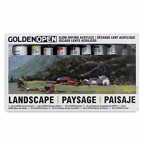Golden Acrylic Paints - Golden Open Acrylic Landscape, Set Of 8 Multi