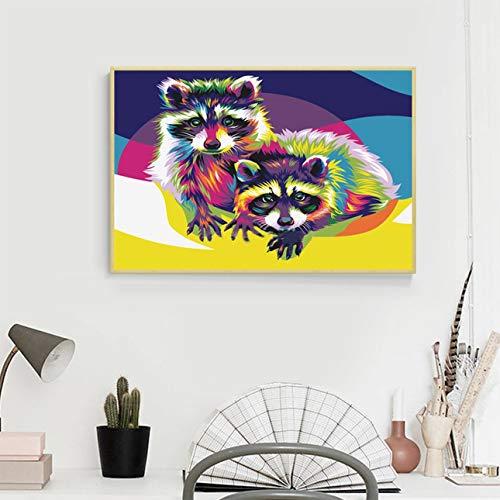 Liobaba Colorful Cat Pattern Elegant Art Painting DIY Handmade Diamond Painting Cross Stitch Indoor Wall Decor Embroidery Decoration by Liobaba (Image #3)