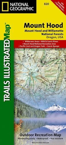 Mt. Hood & Willamette National Forest - Trails Illustrated Map #820 National Forest Mt