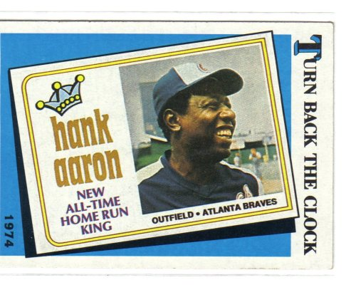 - Turn Back The Clock Hank Aaron Baseball Card