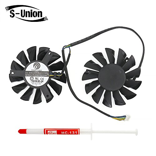 (FanEngineer Generic New Rotary DC Fan Brushless/Video Card Cooling Dual Fan for MSI Twin Frozr III RX6950 PLD08010S12HH 4-Pin DC12V 0.35A)