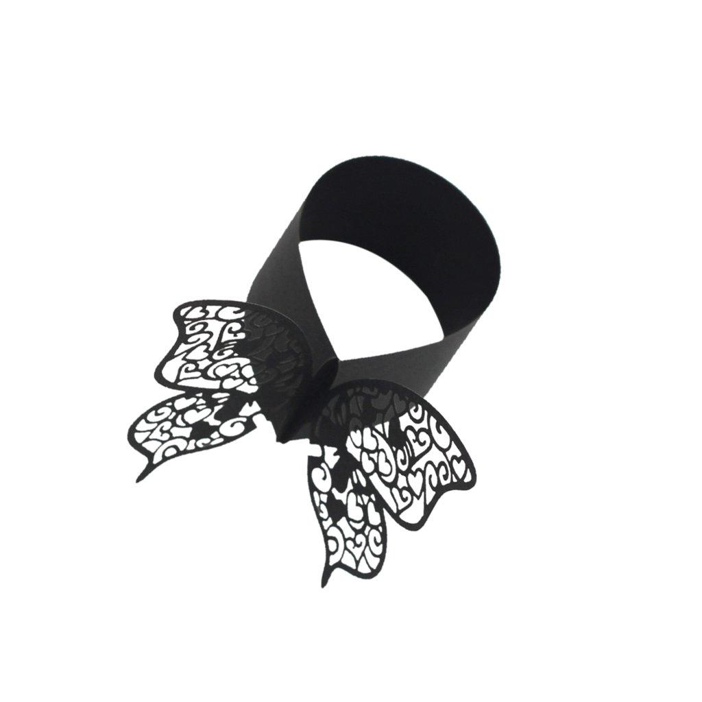 Sharplace 50pz Farfalla Portatovaglioli Anelli Di Tovagliolo Decorazione Tavolo Matrimonio Nozze Feste Decor - Rosa