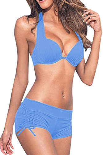 Sovoyant Womens Halter Padded Swimsuits