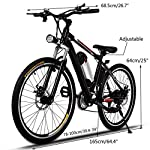 AMDirect-Biciclette-Elettrico-Mountain-Bike-E-Bike-26-Pollici-21-Sistema-di-Trasmissione-Velocit-con-Torcia-Elettrica-con-Batteria-al-Litio-Staccabile-250W-36V-8Ah-Nero