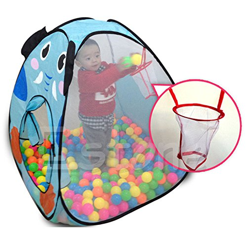 Fang Sky Tents for kids, Foldable Kids Baby Children Ocean Ball Pit Pool Tent Play Toy Tent House - Kid Elephant Tent Play