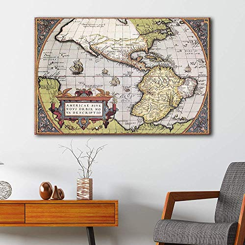 Vintage Map of The American Continent