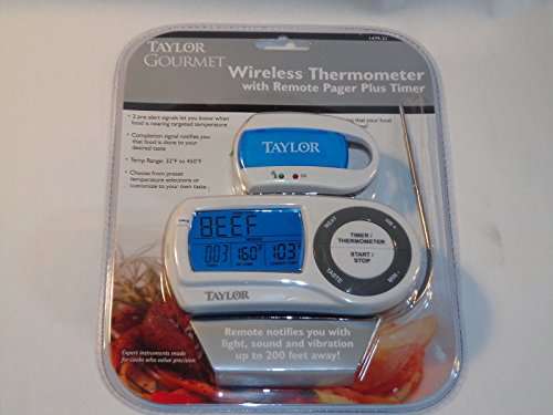 Taylor Gourmet Wireless Thermometer with Remote Pager & Timer 1479 ;#G344T3486G 34BG82G105461