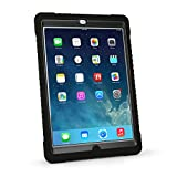 MAX Cases Shield Case for iPad Air. Rugged Shock & Impact Protection Featuring Bi-Molded Polycarbonate/Silicone Sleeve, Built-In Screen Protection and Asset Tag Window -Black
