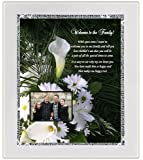 Bridal Shower or Wedding Gift for Daughter-In-Law from Mother-In-Law - Sparkling Glitter Border Frame