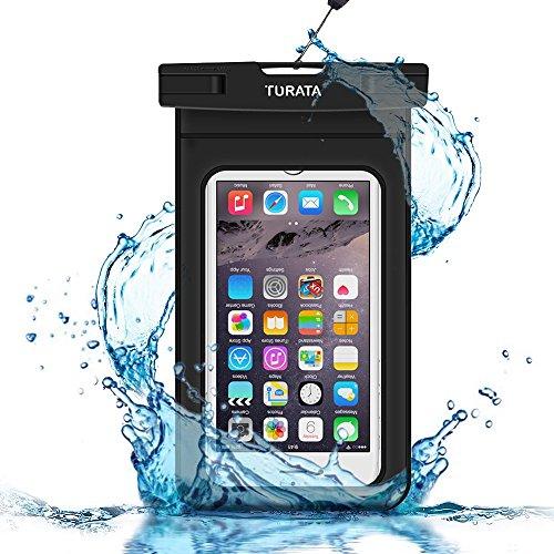 Turata 超強携帯防水ケース 6インチ以下に対応 ナノメートル加工隙なし PVC素材 透明ブラック ネックストラップ アームバンド付属の商品画像