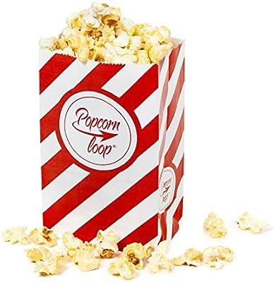 Popcornloop - Bolsas de palomitas de papel, experiencia de cine en casa (10 paquetes de 10 unidades, total 100 unidades)