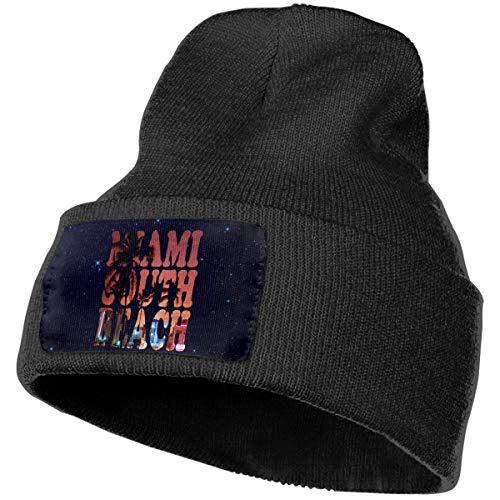 Halloween Miami South Beach (A6U-MXM Mens and Womens Beanie Hat Miami South Beach Fashion Cuffed Plain Skull Knit Hat Cap Sports & Outdoors Watch Cap)