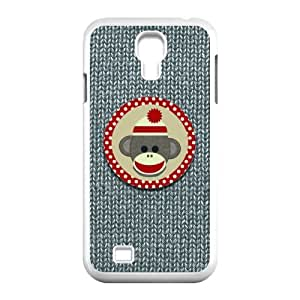 Merry Christmas X-mas Sock Monkey Design Protective Hard Case Cover Skin for Samsung Galaxy S4 I9500-1 Pack- 6-Perfect Gift for Christmas