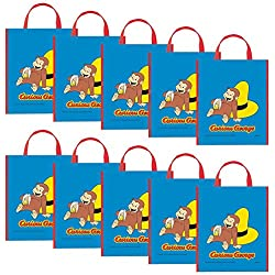 Costume Supercenter BB15882SET Curious George Party Tote Bag -Set Of 10