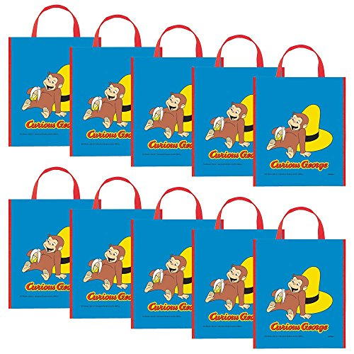 Costume Supercenter BB15882SET Curious George Party Tote Bag -Set Of 10 ()