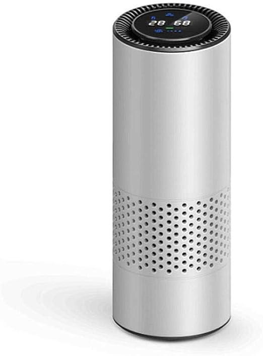 5V USB Car Purificador De Aire Filtro HEPA Limpiador Portátil Formaldehído Cigarrillo Humo Olor Bacterias Dispositivo Purificador Sensación De Gesto,Silver: Amazon.es: Hogar