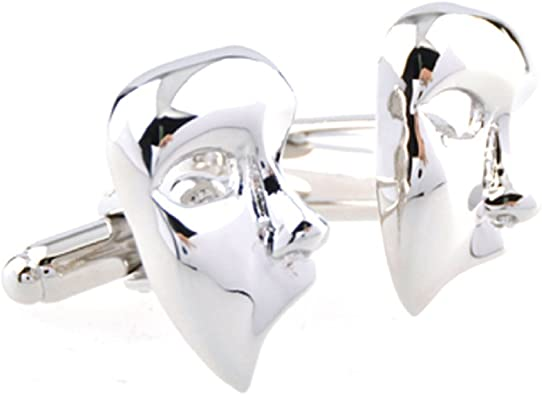Drama Masks Cufflinks with Presentation Box
