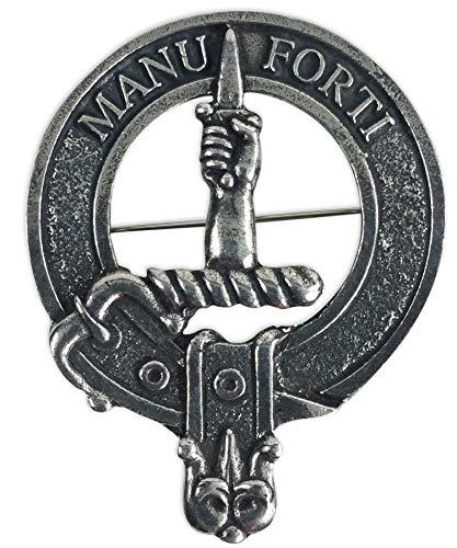 (Gaelic Themes MacKay Scottish Family Clan Crest Badge/Brooch)