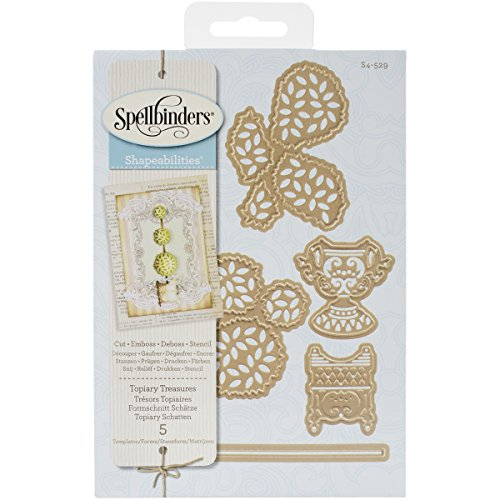 Spellbinders S4-529 Shapeabilities Victorian Garden Topiary Treasures Etched/Wafer Thin Dies (Topiary Card)