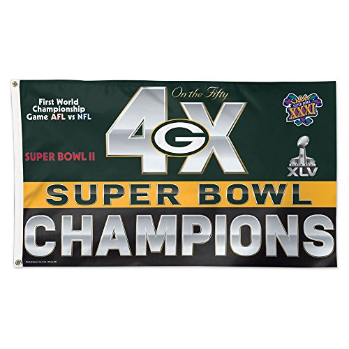 Green Bay Packers NFL 4x Super Bowl Champs Commemorative 3ft