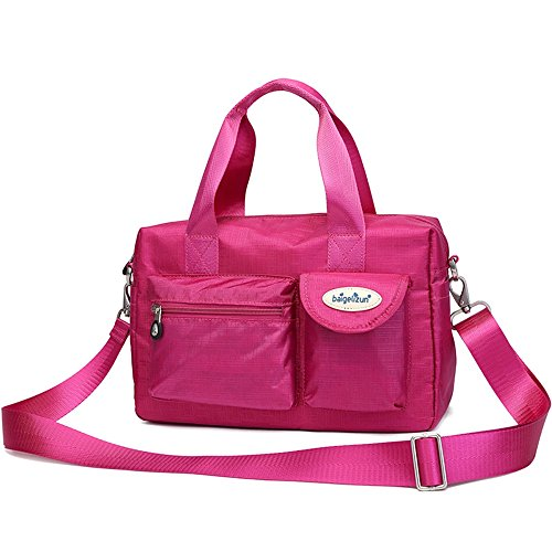 Paquete de la madre de múltiples funciones, maternal y bolsas del niño, bolso de las mujeres embarazadas, salen el bolso, bolso de la momia, bolso, bolso de hombro ( Color : Rosa Roja ) Rosa Roja