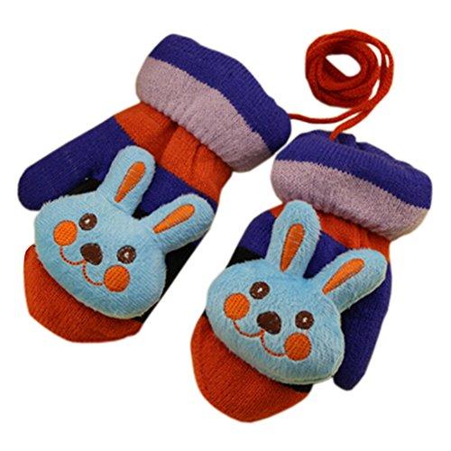 1 Pair Children's Winter Gloves Soft knitted&Warm Mittens (3-6 Years) Rabbit for cheap