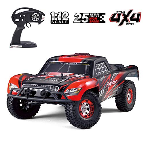 Tecesy RC Cars, 1/12 Scale 4WD Off-Road Remote Control Car, High Speed 25Mph traxxas RC Truck/Monster Truck, Best RC Buggy Toy for Adults-Red (Traxxas Cars)