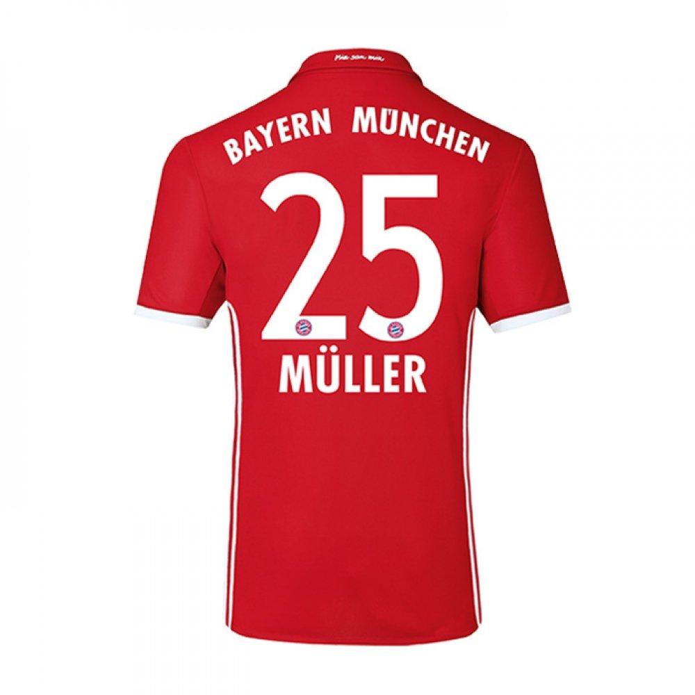 2016-17 Bayern Home Football Soccer T-Shirt Trikot (Thomas Muller 25) - Kids