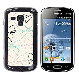 TopCaseStore / la caja del caucho duro de la cubierta de protección de la piel - Beige Teal Gift Girly Cute Sweet - Samsung Galaxy S Duos S7562