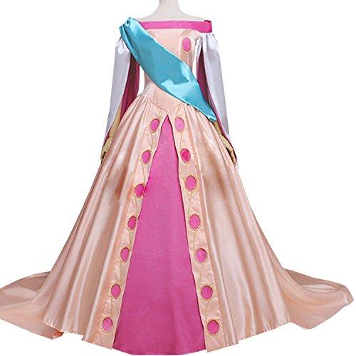 AGLAYOUPIN Anime Girl Princess Cosplay Fancy Flower Dress Halloween