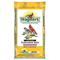 Wagner\'s 76025 Black Oil Sunflower Seed, 10-Pound Bag